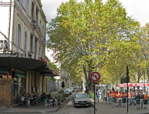 Avenue Feucheres in Nimes France