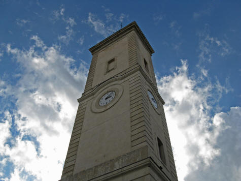 Clock Tower in Nimes France
